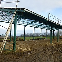 Phipps Farm, Lythe - New livestock building!