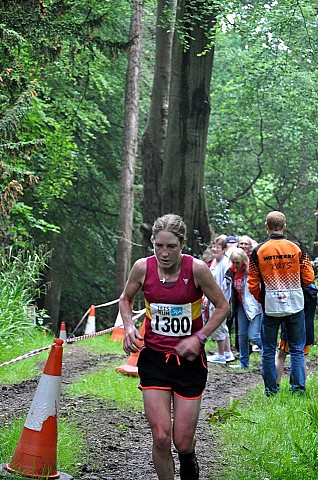 Catherine on the final climb to the finish (002)