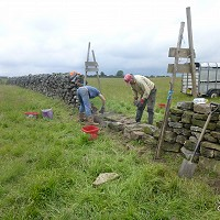 Restoring and repairing Murkside's dry stone walls