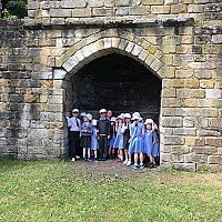 "Fyling Hall School Juniors visit Mulgrave as part of their ""History of Castles"" Project"