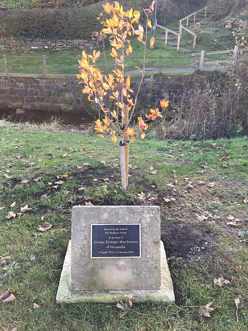 Tree Planting in memory of The Dowager Marchioness of Normanby